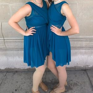 Capezio Other - Teal lyrical dress, dance costume